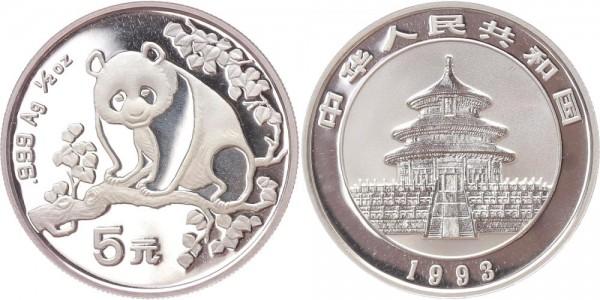 China 5 Yuan 1993 - Panda