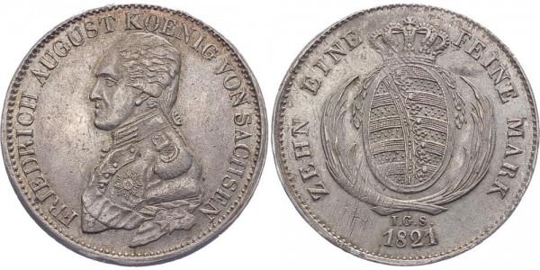 Sachsen Taler 1821 - Friedrich August I.
