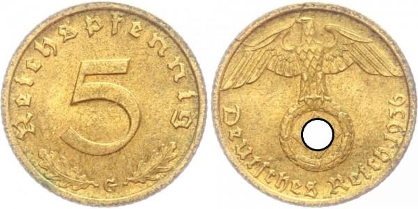 Drittes Reich 5 Reichspfennig 1936 G Kursmünze