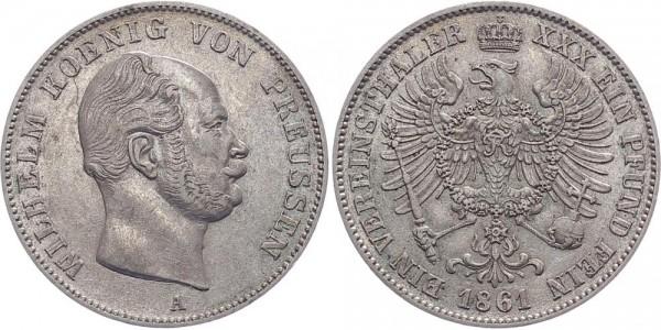 Preussen 1 Taler 1861 - Wilhelm I.
