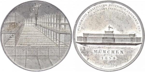 Bayern Gedenkmedaille 1854 München v. Th. Birnböck Ausstellung Industrie und Gewerbe