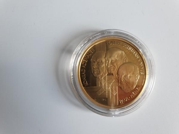Belgien 100 Euro 2002 50. Jahrestag des EGKS-Vertrags (Konrad Adenauer, Robert Schuman und Paul...