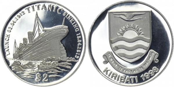 KIRIBATI 2 Dollars 1998 - Titanic