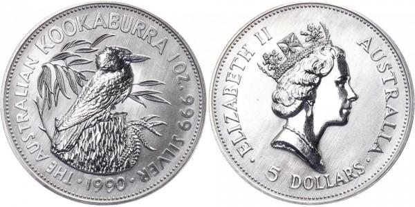 Australien 5 Dollars 1990 - Kookaburra