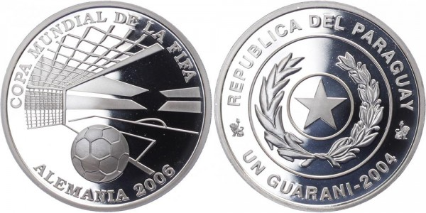 Paraguay 1 Guarani 2004 - Fußball WM Deutschland 2013