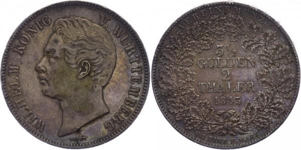 Württemberg Doppeltaler 1843 - Wilhelm I. 1816-1864