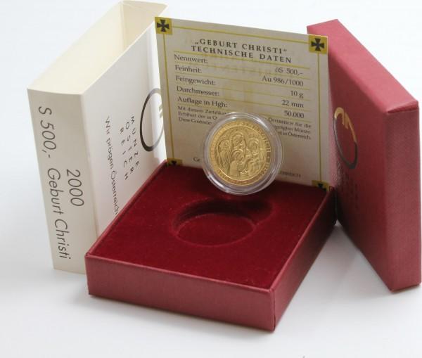 Österreich 500 Schilling 2000 Geburt Christi
