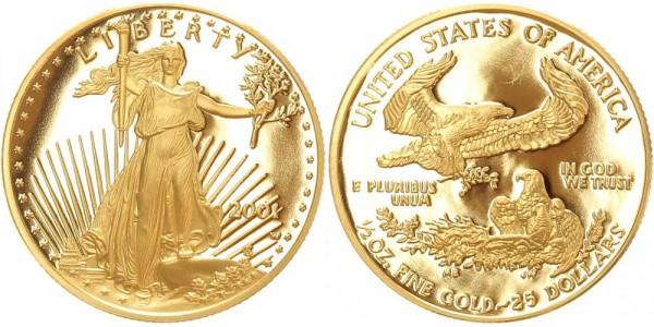 USA 25 Dollars 2001 American Gold Eagle - Liberty