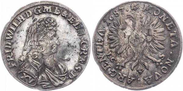 Brandenburg-Preußen 15 Kreuzer 1687 - Friedrich Wilhelm
