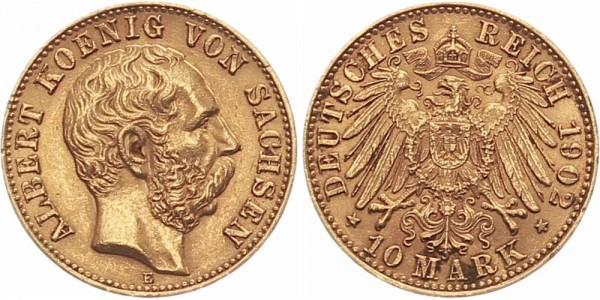 Sachsen 10 Mark 1902 E Albert