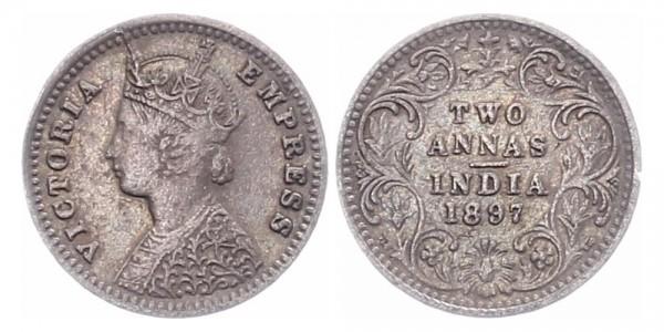 Britisch-Indien 2 Annas 1897 - Victoria