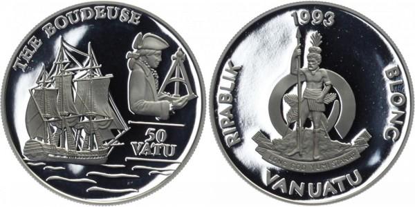 VANUATU 50 Vatu 1993 - The Boudeuse