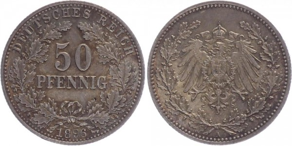 Kaiserreich 50 Pfennig 1896 A Kursmünze