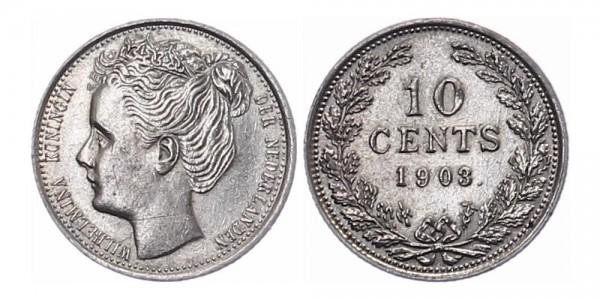 Niederlanden 10 cent 1903 - Kursmünze