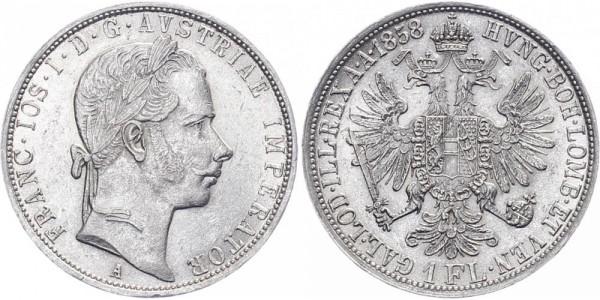 Österreich 1 Florin 1858 - Kursmünze