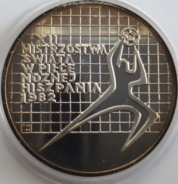 Polen 200 Zloty 1982 Fußballweltmeisterschaft in Spanien, Torwart nach rechts, PP