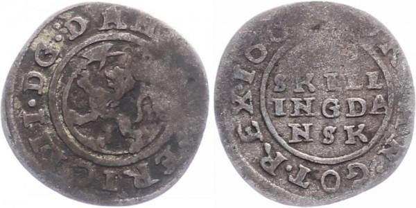 Norwegen 1 Skilling 1661 - Kursmünze