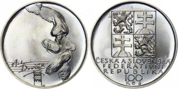 CSFR 100 Kč 1991 - Antonin Dvorak