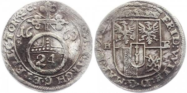Brandenburg-Preußen 1/24 Taler 1669 - Friedrich Wilhelm