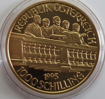 Österreich 1000 Schilling 1995 50 Jahre Zweiter Republik