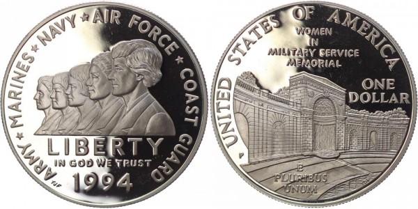 USA 1 Dollar 1994P Philadelphia Women in MIlitary Service Memorial