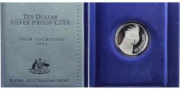 Australien 10 Dollars 1993 - Palm Cockatoo