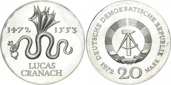 DDR 20 Mark 1972 A Cranach