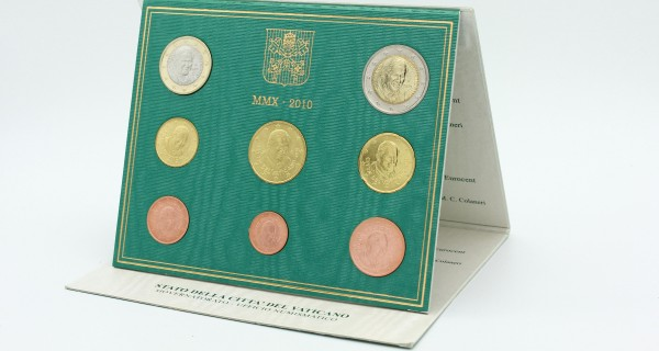 Vatikan 3,88 Euro 2010 - Offizieller Kursmünzensatz