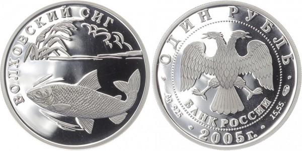 Russland 1 Rubel 2005 - Volchov-Renke