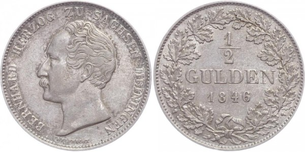 Sachsen-Meiningen 1/2 Gulden 1846 - Bernhard