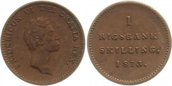 Dänemark 1 Skilling 1813 - Frederik VI.