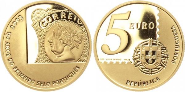 Portugal 5 Euro 2003 - 150 Jahre portug. Briefmarke