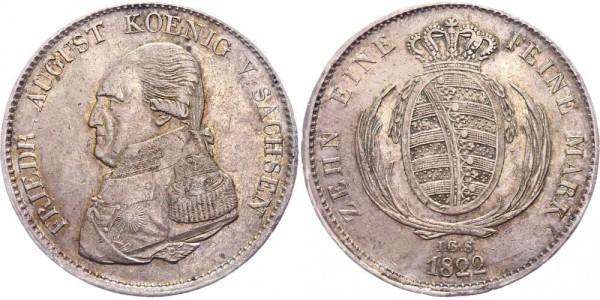 Sachsen Taler 1822 - Friedrich August I. (1806 - 1827)