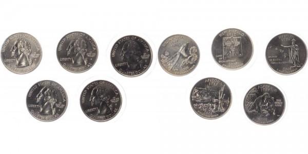 USA 5x Quarter Dollar 2008 - Serie