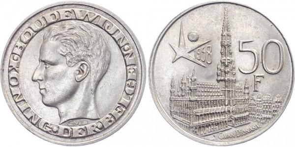 Belgien 50 Franken 1958 - Balduin