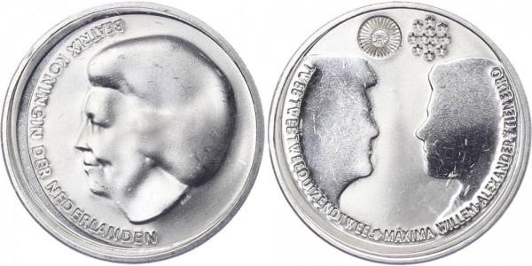 Niederlande 10 Euro 2002 - Hochzeit Wilhelm Alexander