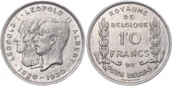 Belgien 10 Francs 1930 - Kursmünze