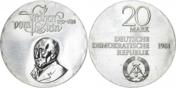 DDR 20 Mark 1981 A Freiherr vom und zum Stein