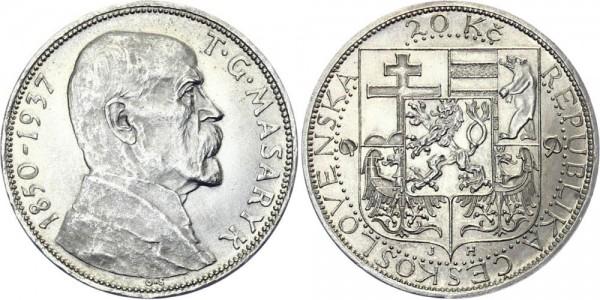 Tschechei 20 Kč 1937 - Masaryk