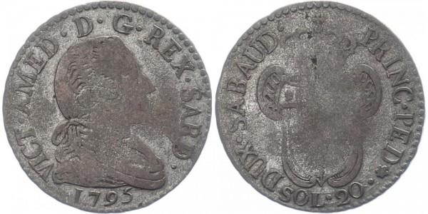 Italien 20 Soldi 1795 - Vittorio Amedeo III