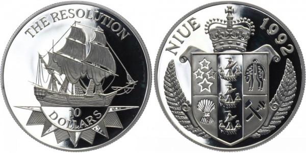 NIUE 10 Dollars 1992 - The Resolution