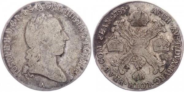 RDR/Österreich-Ungarn 1/2 Kronentaler 1788A Wien Joseph II. ( 1781 - 1790 )
