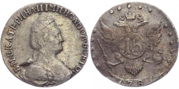 Russland 15 Kopeken 1787 - Katharina II (1762 - 1796)