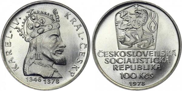 CSSR 100 Kč 1978 - König Karel IV