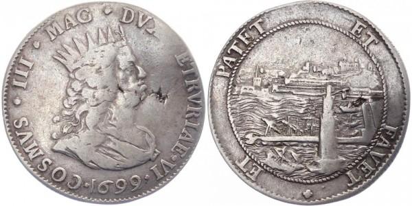 Italien Tallero 1699 Toskana Cosimo III. Medici
