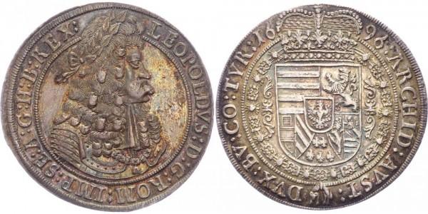 Habsburg Taler 1696 Hall Leopold I. (1657 - 1705)