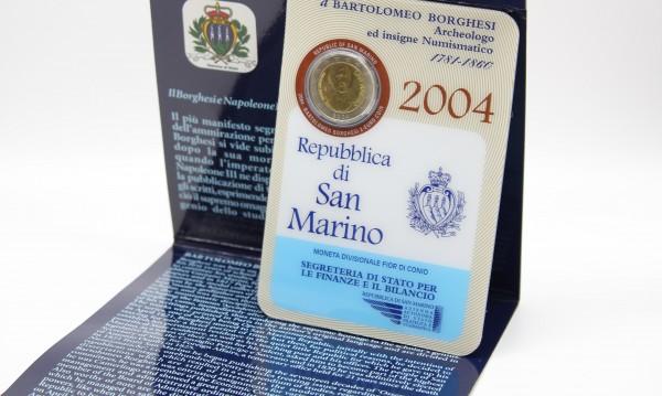 San Marino 2EUR 2004 Bartolomeo Borghesi