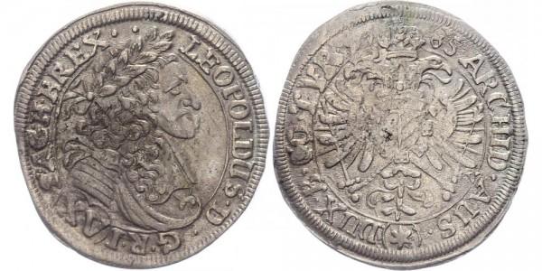 RDR, Habsburg 15 Kreuzer 1685 Mainz, sog. Hohenlohe-Prägung Leopold I., 1657-1705