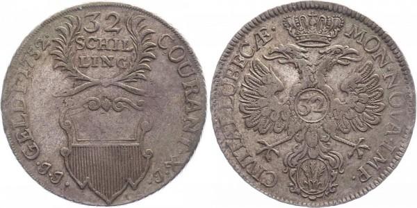 Lübeck 32 Schilling 1752