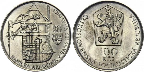 CSSR 100 Kč 1987 - 225 J. Bergwerke
